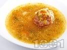 Рецепта Супа с телешки топки и палачинка
